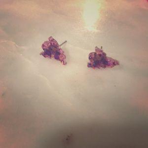 Halloween glitter Ghost earrings
